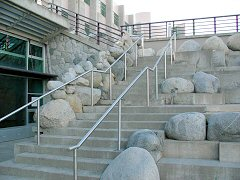 Stainless Steel Stair Railings at UNBC